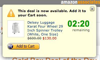Amazon deal notification